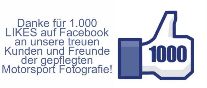 Vielen Dank für 1000 Likes auf Facebook!